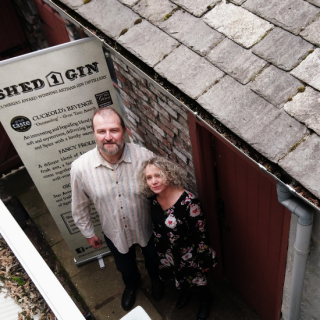 Andy & Zoe from Shed 1 Distillery, Ulverston